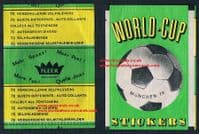1974 Kenny Dalglish Fleer Walldorf silk WITH backing paper WC74 Scotland + wrapper